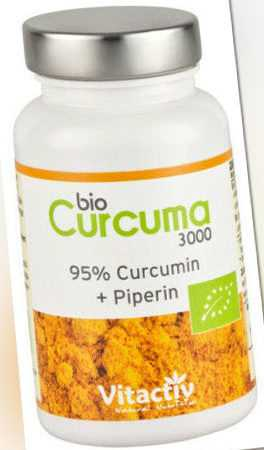 Curcuma 3000, 60 Kapseln - Bio Kurkuma ayurvedisch hochdosiert, Curcumin Pulver