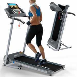 Laufband elektrisch 10 km/h LCD Display Puls Fitness Heimtrainer klappbar 120 kg