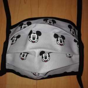 Mundnasenmaske Stoffmaske Maske Baumwolle waschbar Handarbeit MNS schwarz grau