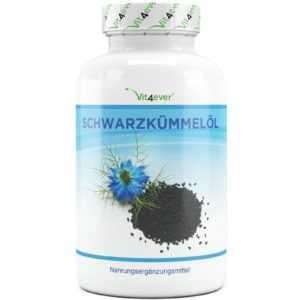 Schwarzkümmelöl 420 Kapseln - 1000mg Portion - kaltgepresst  ägyptisch Vitamin E