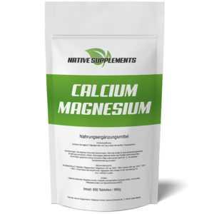 600 TABLETTEN CALCIUM & MAGNESIUM - Kalzium Vegan 1200mg Hochdosiert Entgiftung