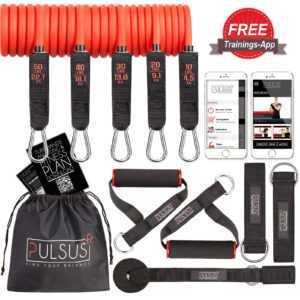 Fitnessband Set PULSUS fit Expander Widerstandsband mit Fitness App