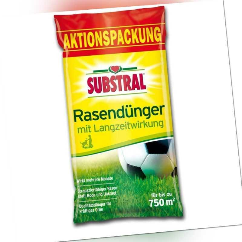 Substral Rasendünger NEU mit Langzeitwirkung NPK 20-5-8, 15 kg