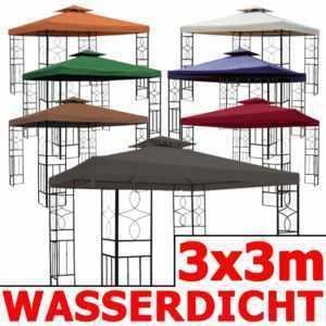 Pavillon 08 WASSERDICHT 3x3 Metall Festzelt wasserfest Ersatzdach Pavillion NEU