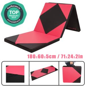 Klappbar Turnmatte Weichbodenmatte Gymnastikmatte Yogamatte Fitnessmatte180x60x5
