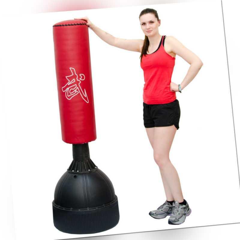 Standboxsack ca.160cm gefüllter freistehender Boxsack für Erwachsene Boxpartner