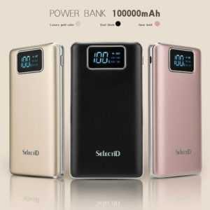 Powerbank 100000mAh Externe Batterie Ladegerät Zusatz Akku 2USB für Handys