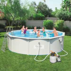 Bestway Hydrium Pool 56384 Set 460 x120cm Swimmingpool Stahlwandpool Set