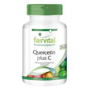 Quercetin + Vitamin C 120 Kapseln Antioxidantien Bioflavonoide VEGAN | fairvital