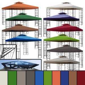 WASSERDICHT Pavillon Romantika ~ 3x3m PVC wasserfest (Option) Metall Dach ~ 3x3