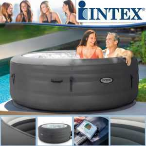 Intex Whirlpool Ø 196x66cm Spa Pool Badewanne Whirlwanne aufblasbar Outdoor