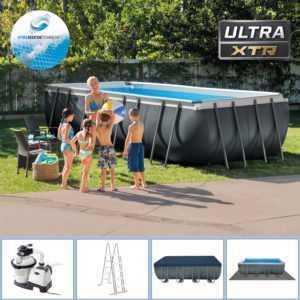 Intex Swimming Pool 549x274x132 Frame Pool Set mit Sandfilter XTR Schwimmbecken