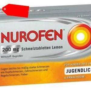 Nurofen 200 mg Schmelztabletten Lemon 24 St PZN: 11550548