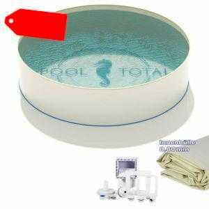 Pool Set BASIS Ø 4,50 x 1,20 m rund 0,6mm Stahl + 0,8mm Folie KB sand + Skimmer