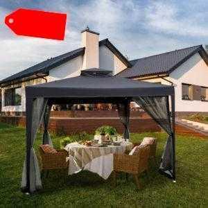 Partyzelt Gartenpavillon Festzelt Pavillion Wasserdicht 3x3m Gartenzelt Terrasse