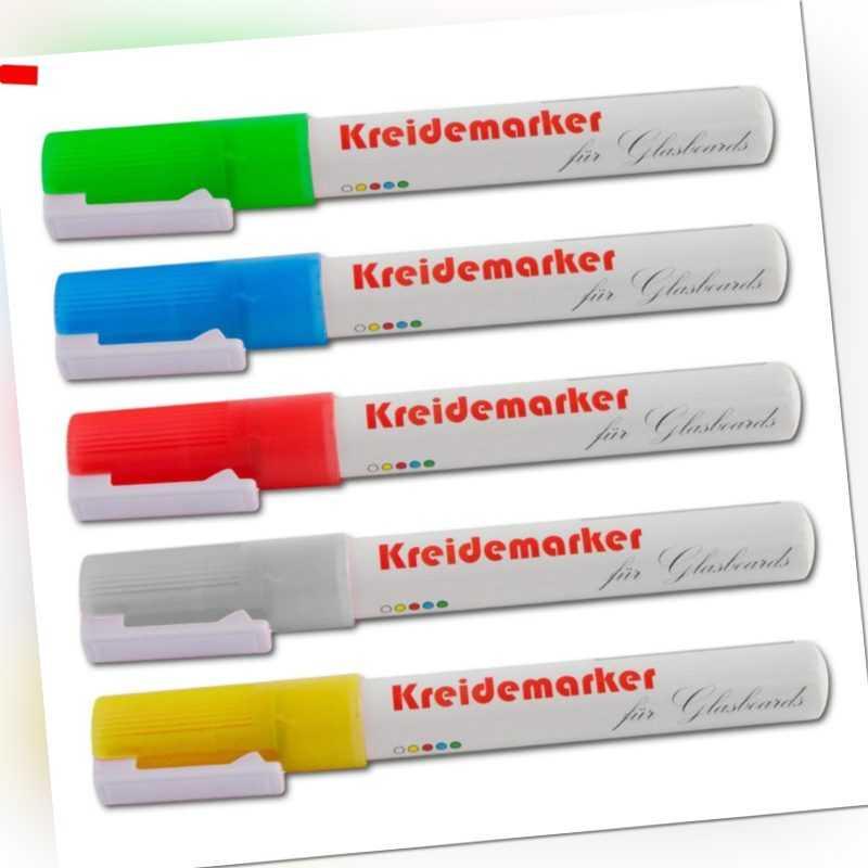 Kreidemarker Kreidestift Flüssigkreide Board Marker, 5er Set oder 12er Set