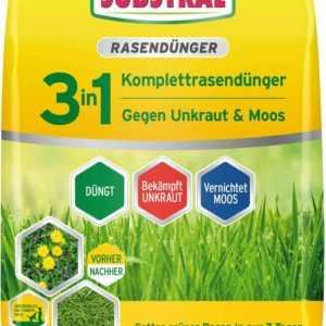 Substral 3in1 Komplett Rasendünger gegen Unkraut & Moos 9kg Unkrautvernichter