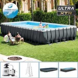 Intex 975x488x132 cm Swimming Pool Rechteck Stahlwand Frame Schwimmbad