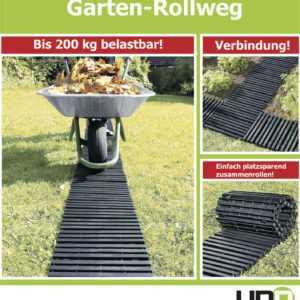 UPP Gartenplatten / Rollweg / Beetplatten / Gartenweg / Beet / Rasen 30x150cm