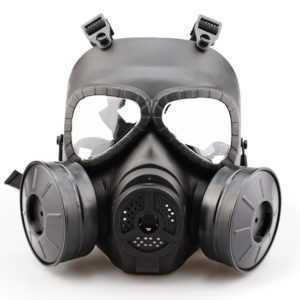 Gasmaske Doppelfilter-Ventilator-Schweiß-Staub-Auge schützen Gesichts-Schutz