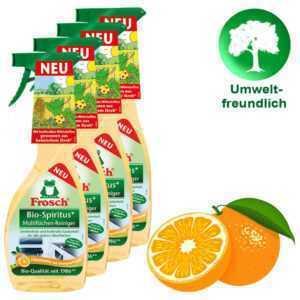 Frosch Bio-Spiritus Multiflächen-Reiniger Reinigungsmittel Putzmittel 4x 500ml