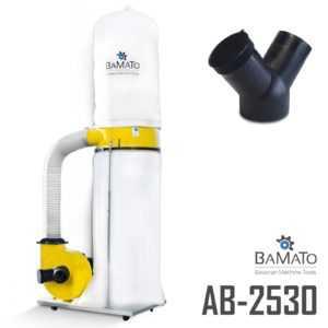 BAMATO Absauganlage AB-2530 mit Y-Adapter Späneabsaugung Absaugung 400V