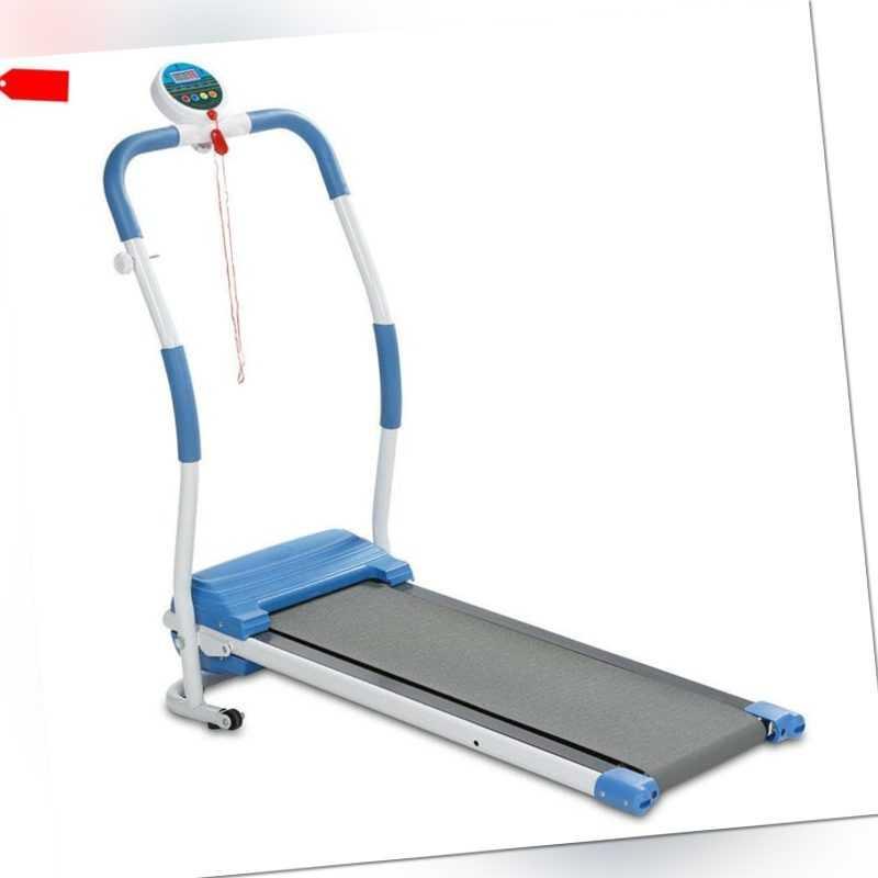 Laufband elektrisch kompakt klappbar 1-6 km/h Trainingscomputer Fitnessgerät