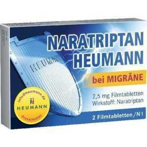 NARATRIPTAN Heumann bei Migräne 2,5 mg Filmtabl. 2 St PZN 9542263