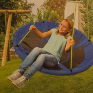 Nestschaukel 150Kg Tellerschaukel Kinder-Schaukel Rundschaukel BLAU od. GRÜN