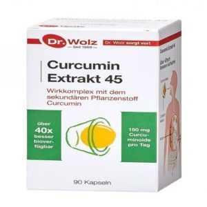 CURCUMIN Extrakt 45 Dr.Wolz Kapseln 90 St PZN 10793390