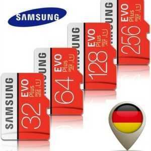 Samsung EVO PLUS EVO+ micro SD Speicherkarte Adapter 32GB 64GB 128GB 256GB OVP