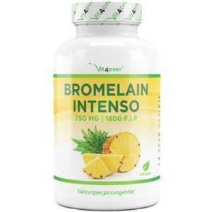 Bromelain / Bromelin - 120 Kapseln (v) a 750mg  (1800 F.I.P) - Ananas-Extrakt