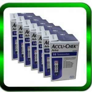 ACCU CHEK Aviva 7 x 10 Sensoren Teststreifen | 70 Teststreifen ►Händler◄