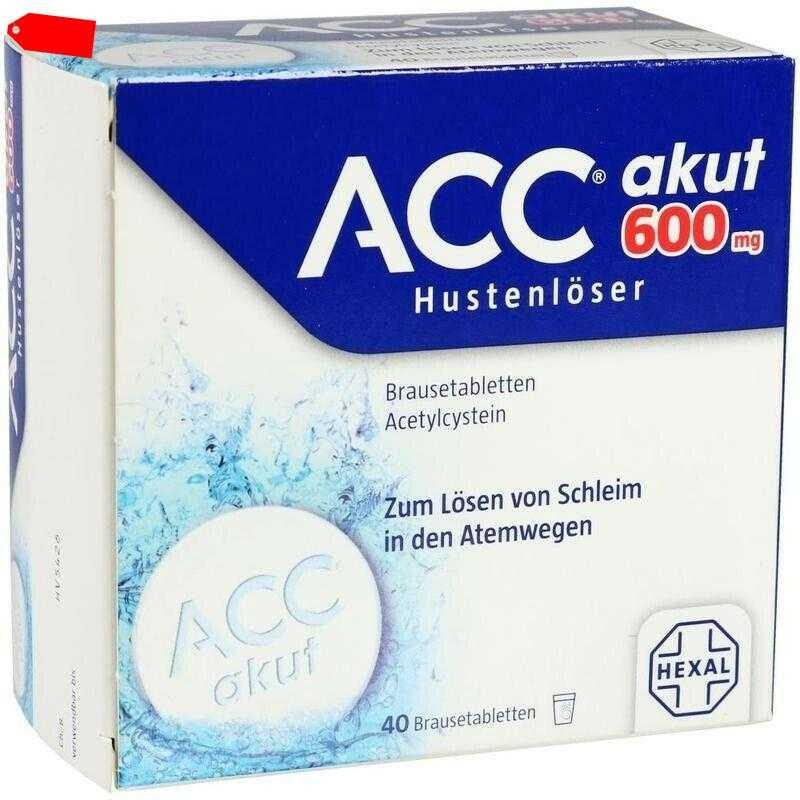 ACC akut 600 Hustenlöser Brausetabletten     40 st       PZN520917