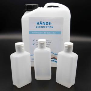 3 Stück Hand Desinfektionsmittel Deckel Spritz Flasche 3x a100 ml 99% Alkohol