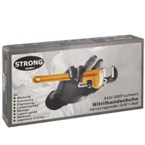 Nitril Einweghandschuhe SCHWARZ Einweg-Handschuhe Strong by Grippaz M/L/XL/XXL