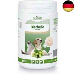 Reine Bierhefe Pulver 500g, Naturprodukt für Hunde, Katzen und Pferde,