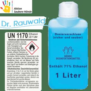 Desinfezierendes Hände Reinigungsmittel 71% Ethanol 1L schnell Spenderflasche