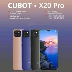 GLOBAL Cubot X20 Pro 6GB 128GB ANDROID 9.0 4G SMARTPHONE Ohne Vertrag Handy 20MP