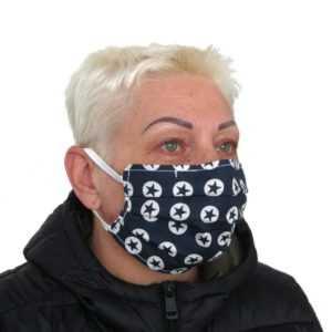 Mund Nasen Maske Gesichtsmaske 60 Grad Waschbar Oeko-Tex 100% Baumwolle DE