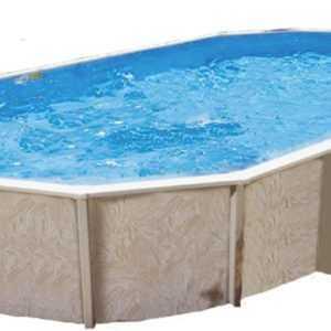 Stahlwand Pool Diana ca 730x360cm Komplettset Außenpool Schwimmbecken Schwimmbad