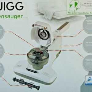 Quigg Milbensauger Akku-Sauger Staubsauger Allergikerfreundlich 4 Filtersysteme