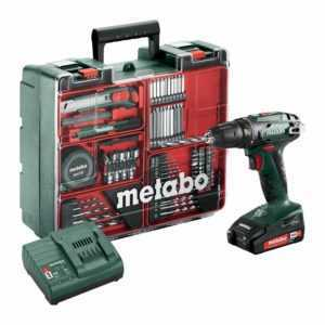 Metabo Mobile Werkstatt BS18 inkl. Akku-Schrauber, Zubehör, Werkzeug-Koffer