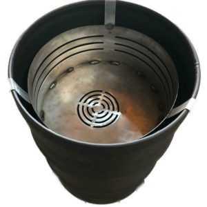 Feuerschale Feuerkorb für Feuertonne Stahlfass Feuerkorb Feuerplatte Grill BBQ