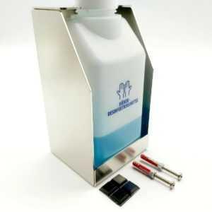 Desinfektionsmittelspender Wandhalterung in Edelstahl für Desinfektionsmittel