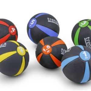 Medizinball trenas aus Gummi - Gymnastik - Kraft - Fitness - Ball - 1 bis 5 kg