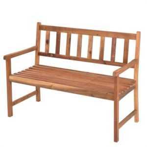 Gartenbank Akazie Bank Sitzbank Holzbank Parkbank 2-Sitzer massiv Akazien Holz