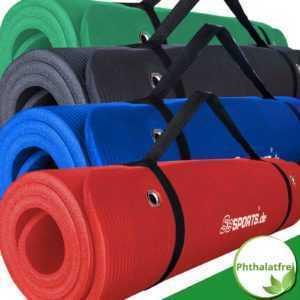 ScSPORTS® Gymnastikmatte Yogamatte Fitnessmatte 185 x 80 x 1,5 cm mit Ösen