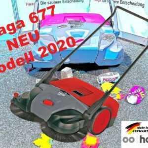 haaga 677 Tellerbesen Akku-Kehrmaschine Deutsche Markenqualität MODELL 2020