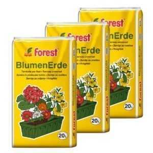 Universal-Blumenerde 3 Sack á 20 L=60 Liter Blumen-Erde NEU Qualitäts-Pflanzerde
